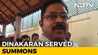 Delhi cops serve summons to TTV Dinakaran..