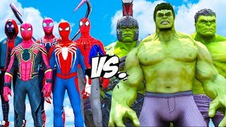 THE HULK VERSE VS THE SPIDERMAN VERSE - EPIC BATTLE SUPERHEROES COMIC