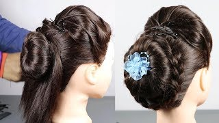 Beautiful Bun Hairstyle For Party/Wedding | hair style girl | hairstyles for girls| cute hairstyles