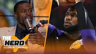 Stephen Jackson on LeBron's Lakers debut, Lonzo 'big piece' in trade for shooters | NBA | THE HERD