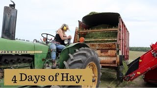 Four Days of Making Hay (FIRST CUT HAY 2019): Vlog 146