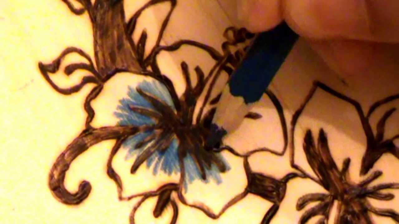 Pyrography Wood Burning And Coloring Of A Butterfly
