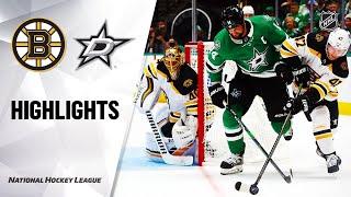 Bruins @ Stars 10/03/19 Highlights