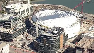 Raw Video: Chase Center Construction Progess