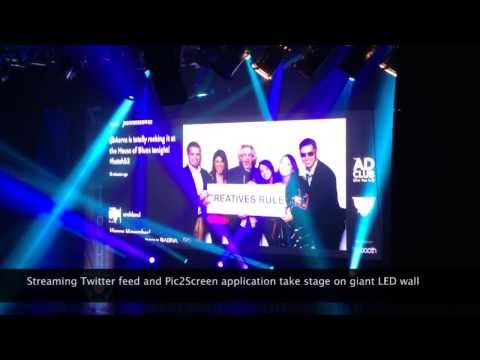 The Ad Club's Hatch Awards features Pic2Screen and AerTweet at the House of Blues