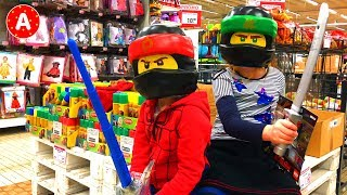 Shopping in Toy Store with Funny Kids - Video for Children