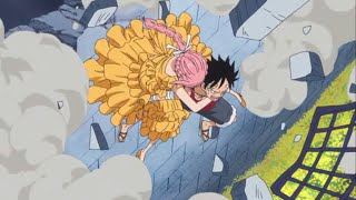 One Piece Dressrosa 741 Luffy kidnaps Rebecca SUB ENG