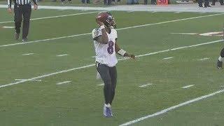 Lamar Jackson Taunts Browns To Tackle Him