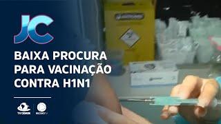 Baixa procura para vacinação contra H1N1