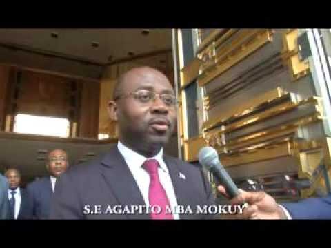M.  Agapito MBA MOKUY, émissaire du Président Obiang Nguema, reçu par S.E. Paul BIYA