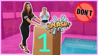 DONT PUSH THE WRONG MYSTERY BOX INTO THE WATER | SISTER FOREVER