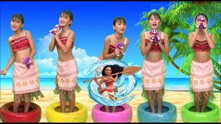 FUI CLONADA MOANA | Five Little Babies Jumping on the bed song | Nursery Rhymes for Children