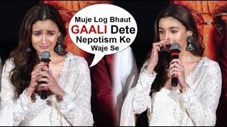 Alia Bhatt Starts CRYING In Front Of Media At Kalank Trailer Launch