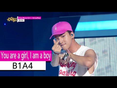 [HOT] B1A4 - You are a girl, I am a boy, 비원에이포 - 유아어걸, 아이엠어보이, Show Music core 20150905