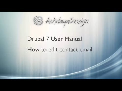 How to edit contact email in Drupal 7