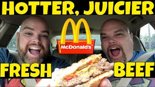 McDonald's Fresh Beef Double Quarter Pounder Review