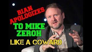 Rian Johnson apologizes to Mike Zeroh