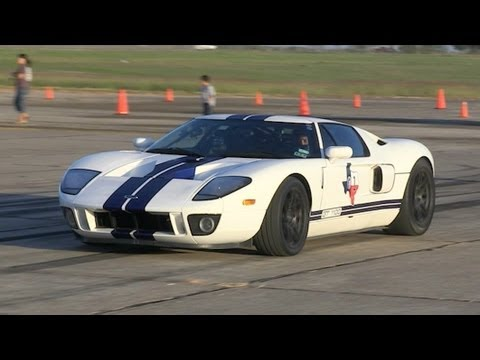 Twin Turbo Ford GT's - Texas Mile