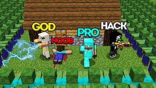 Minecraft Battle: NOOB vs PRO vs HACKER vs GOD: ZOMBIE APOCALYPSE CHALLENGE / Animation