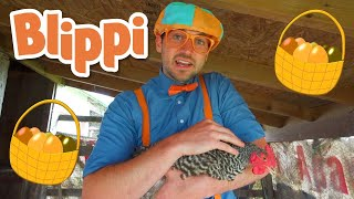 Blippi Visits a Farm and Finds Animals | Animals for Kids | Educational Videos For Children