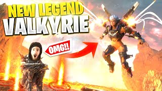 *NEW* LEGEND VALKYRIE IS INSANELY OP... Will She Be My Next Main? (Apex Legends Season 9)