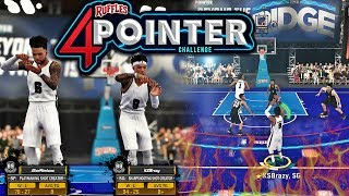 NBA 2K18 MyPARK - RUFFLES 4 POINTER CHALLENGE! HALF COURT 4 POINT GREENS! I CANT MISS!