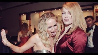 Funny Moments of emma stone and jennifer lawrence