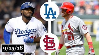 Los Angeles Dodgers vs St. Louis Cardinals Highlights || September 15, 2018