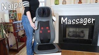 🌼NAIPO BACK MASSAGER SHIATSU SEAT CUSHION (Heat & Vibration) Rolling Kneading Review 👈