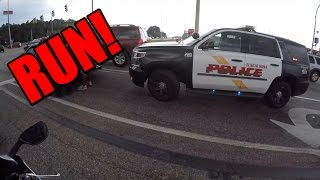 Motorcycle RUNNING from THE POLICE!?