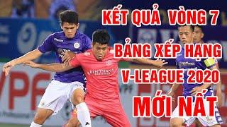 Kết quả vòng 7 V-League 2020 | Bảng xếp hạng V-League 2020 | TPHCM dẫn đầu, Hà Nội FC lao dốc