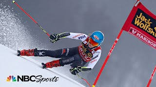 Mikaela Shiffrin ties for first in World Cup GS | NBC Sports
