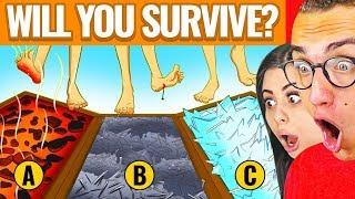 INSANE MYSTERY RIDDLES TO TEST SURVIVAL SKILLS! W/ Girlfriend Azzyland