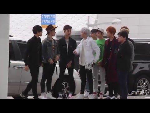 【NCT FUTURE】20160408 NCT U 인천공항 출국 '여기는 엔시티' 인사  1080P