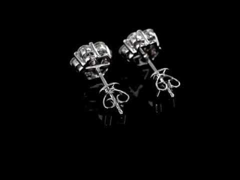 Browns Family Jewellers White Gold And Diamond Earrings