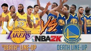 "Lakers ""Death"" Lineup vs Warriors Death Lineup Blacktop Simulation (NBA2K)"