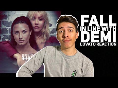 Christina Aguilera-Fall In Line (lyric Video) ft Demi Lovato Reaction  E2 Reacts