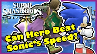 Is Hero Faster than Sonic and Big Blue? - Super Smash Bros Ultimate
