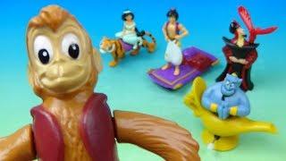 1992 Walt Disney's Aladdin set of 5 Burger King Kids Meal Movie Toys Video Review