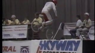 Rick Allison's Afa Madison Sq Garden contest run. Pro flatland 1986-7