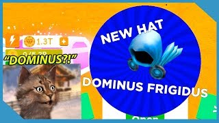 HOW TO GET DOMINUS HATS IN ROBLOX MAGNET SIMULATOR