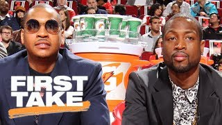 Carmelo Anthony or Dwyane Wade: Who was bigger pick-up?   First Take   ESPN