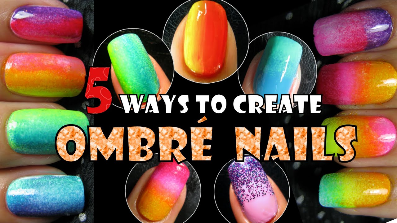 Ombre Nails 5 Ways To Create Rainbow Gradient Nail Art Trend 2013 How To Easy Design