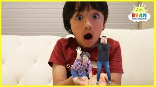 Kid shrinks Mommy and Daddy with Nerf toys! Family Fun Kids Pretend Playtime chase