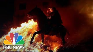 Controversial Fiery Festival 'Purifies' Horses With Smoke And Flames | NBC News