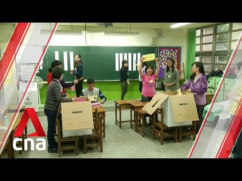 Taiwan elections Polls close and vote counting begins