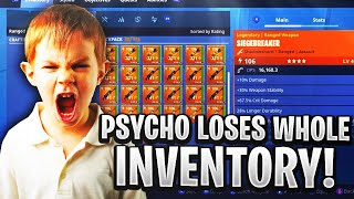 Psycho Rich Kid Loses Whole Inventory! (Scammer Gets Scammed) Fortnite Save The world