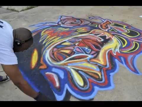 Atlanta Artist Corey Barksdale Graffiti Painting of Nina Simone