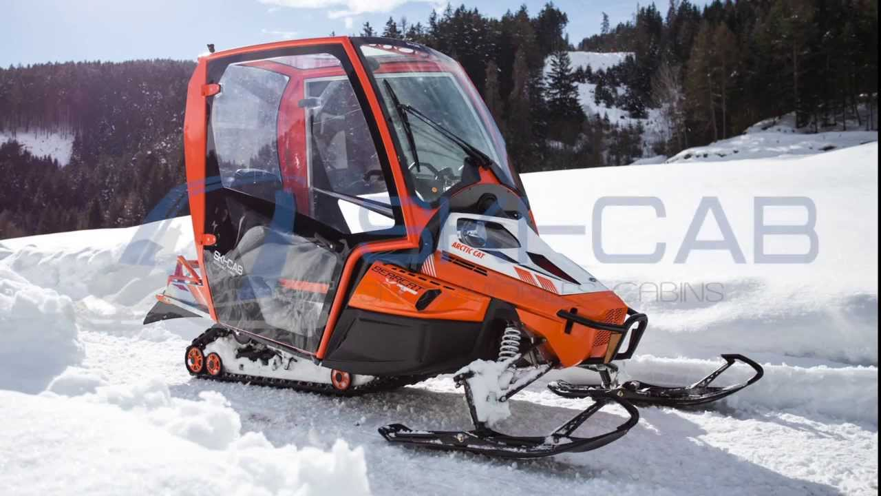 Ski Cab The New Cabin For Snowmobile Youtube