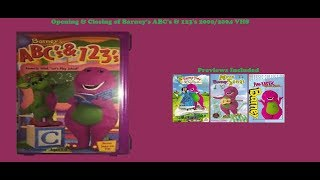 Barney's ABCs & 123s 2000/2004 VHS Opening & Closing